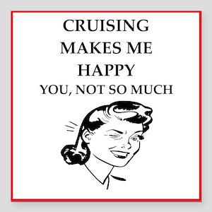 "cruise Square Car Magnet 3"" x 3"""