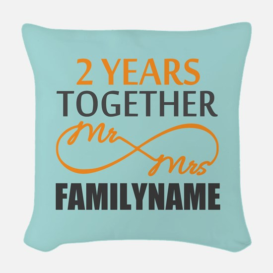 2nd Anniversary Infinity Perso Woven Throw Pillow