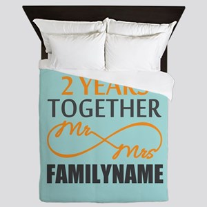 2nd Anniversary Infinity Personalized Queen Duvet