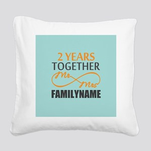 2nd Anniversary Infinity Pers Square Canvas Pillow