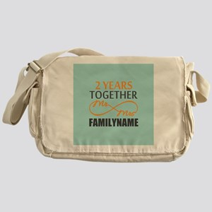 2nd Anniversary Infinity Personalize Messenger Bag