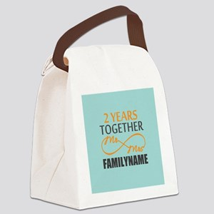 2nd Anniversary Infinity Personal Canvas Lunch Bag