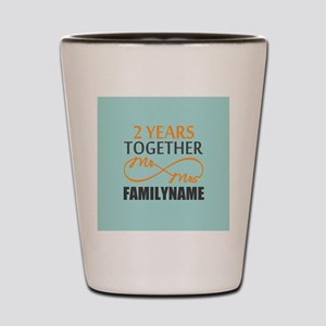 2nd Anniversary Infinity Personalized Shot Glass