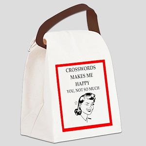 crosswords Canvas Lunch Bag
