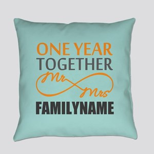 1st Anniversary Infinity Personali Everyday Pillow