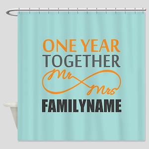 1st Anniversary Infinity Personaliz Shower Curtain