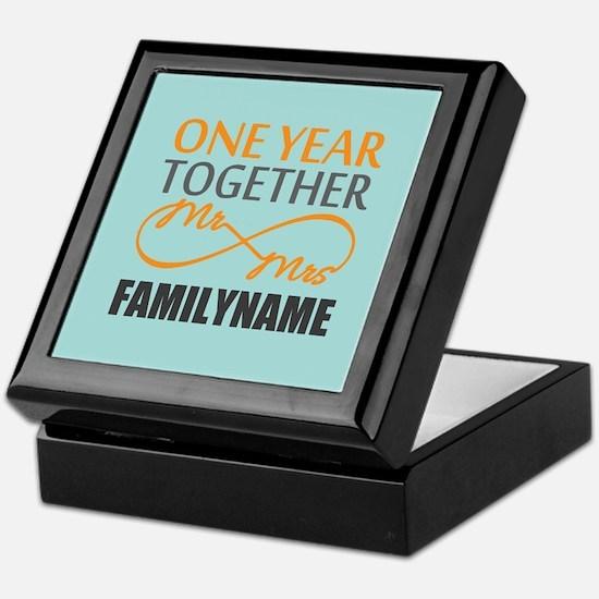 1st Anniversary Infinity Personalized Keepsake Box