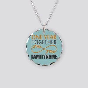 1st Anniversary Infinity Per Necklace Circle Charm