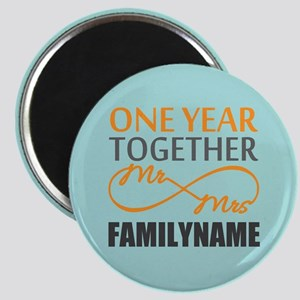 1st Anniversary Infinity Personalized Magnet