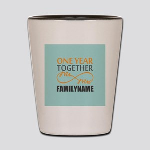 1st Anniversary Infinity Personalized Shot Glass
