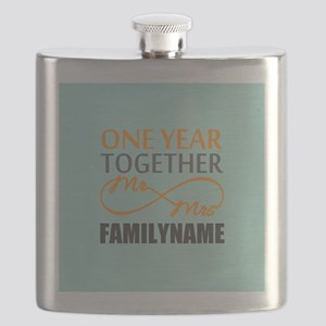 1st Anniversary Infinity Personalized Flask