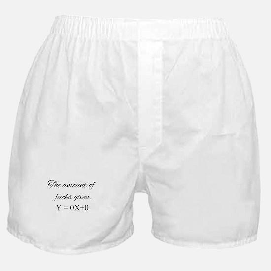 The amount of fucks given Boxer Shorts