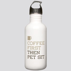 Coffee Then Pet Sit Stainless Water Bottle 1.0L