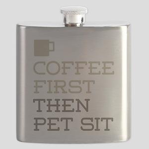 Coffee Then Pet Sit Flask