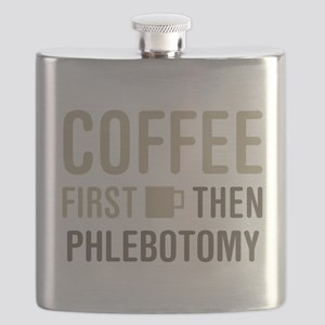 Coffee Then Phlebotomy Flask