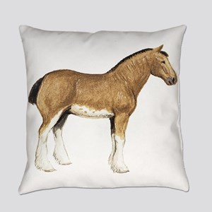 Clydesdale Horse Everyday Pillow
