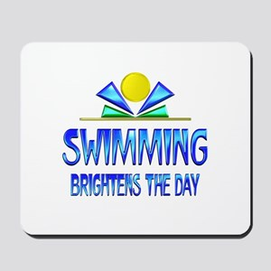 Swimming Brightens the Day Mousepad