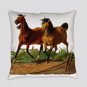 two horses Everyday Pillow