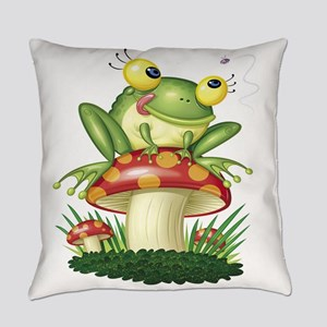Frog Toad Stool Everyday Pillow