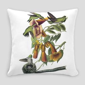 Ruby-throated Hummingbird Everyday Pillow