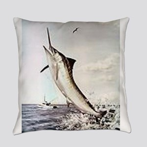 Striped Marlin Everyday Pillow