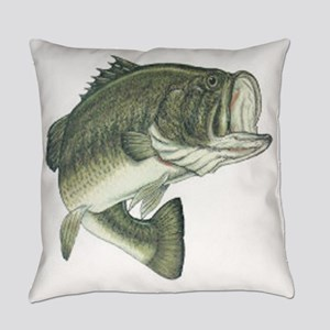 Large Mouth Bass Everyday Pillow