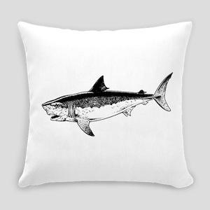 Great White shark Everyday Pillow