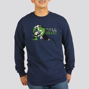 Hulk Color Splash Long Sleeve Dark T-Shirt