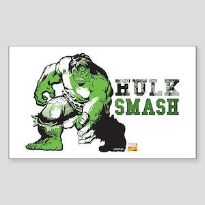 Hulk Color Splash Sticker (Rectangle)
