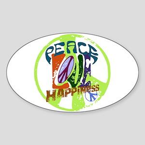 Vintage Peace Oval Sticker