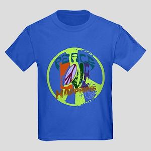 Vintage Peace Kids Dark T-Shirt