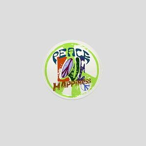 Vintage Peace Mini Button