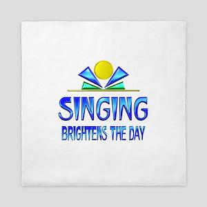 Singing Brightens the Day Queen Duvet