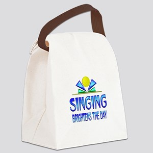 Singing Brightens the Day Canvas Lunch Bag