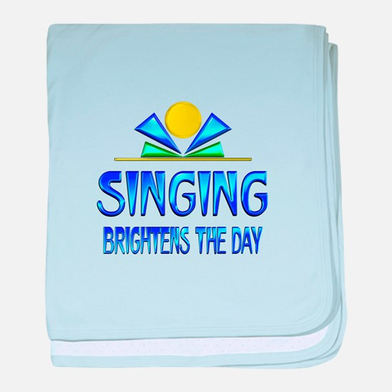 Singing Brightens the Day baby blanket