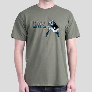 Captain America Color Splash Dark T-Shirt