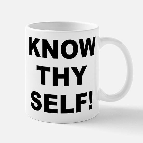 Know Thy Self! Small White Mug Mugs