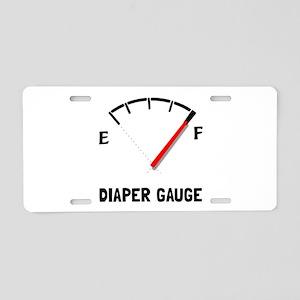 Diaper Gauge 2 Aluminum License Plate