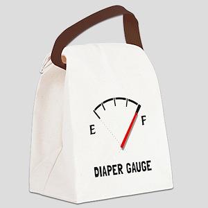 Diaper Gauge 2 Canvas Lunch Bag