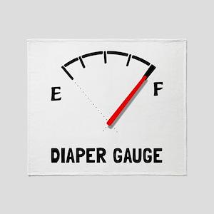 Diaper Gauge 2 Throw Blanket