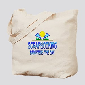 Scrapbooking Brightens the Day Tote Bag