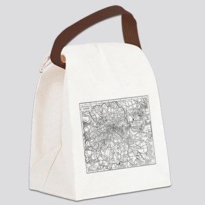 Vintage Map of London England (19 Canvas Lunch Bag