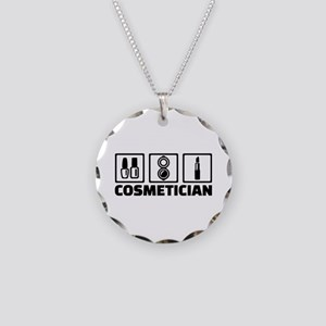 Cosmetician cosmetics Necklace Circle Charm