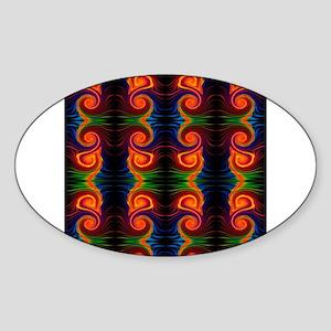 color spectrum swirl Sticker