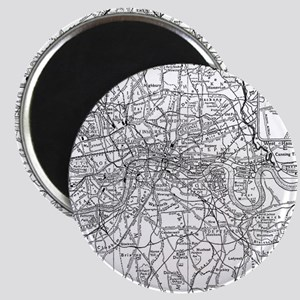 Vintage Map of London England (19 Magnets