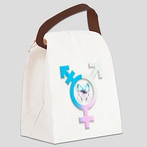 transgender butterfly symbol Canvas Lunch Bag