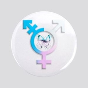 Transgender Butterfly Symbol Button