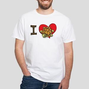 I heart turtles White T-Shirt