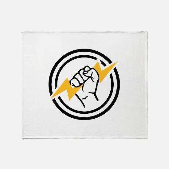 Flash hand electrician Throw Blanket
