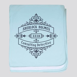 Consulting Detective (blue) baby blanket
